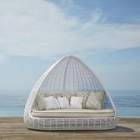 """""""Shade"""". Плетеный павильон-кровать."""