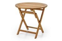 """Turin"". Стол из тика, диаметр 80 см (складной)."