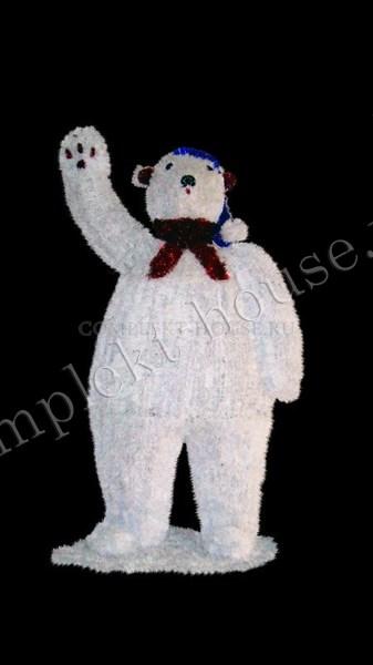 """""""Белый медведь"""". Световая фигура."""